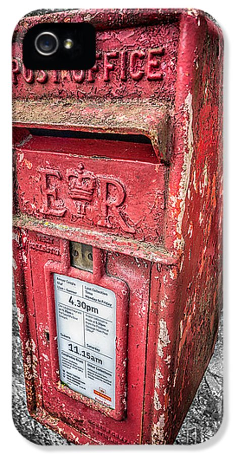 British IPhone 5 Case featuring the photograph British Post Box by Adrian Evans