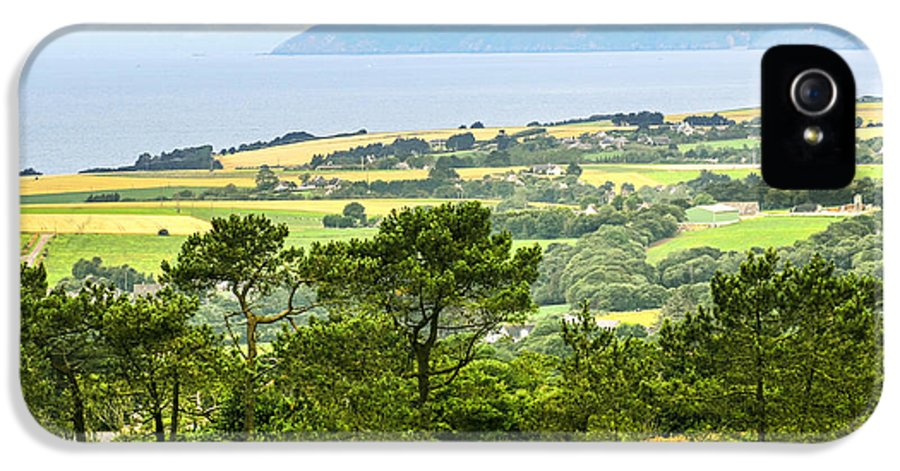 Rural IPhone 5 Case featuring the photograph Brittany Landscape With Ocean View by Elena Elisseeva