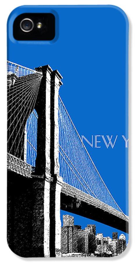 Architecture IPhone 5 Case featuring the digital art Brooklyn Bridge by DB Artist