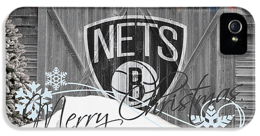 Nets IPhone 5 Case featuring the photograph Brooklyn Nets by Joe Hamilton