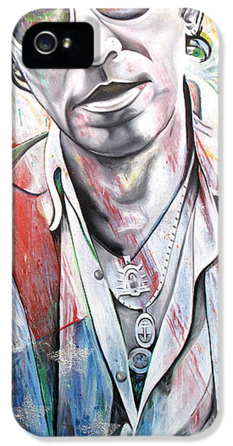 Bruce Springsteen IPhone 5 Case featuring the painting Bruce Springsteen by Joshua Morton