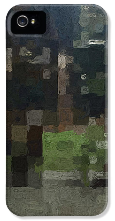 Abstract Painting IPhone 5 Case featuring the painting Bryant Park by Linda Woods