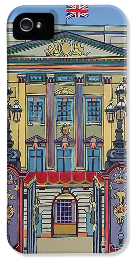Buckingham Palace IPhone 5 Case featuring the painting Buckingham Palace by Nicky Leigh