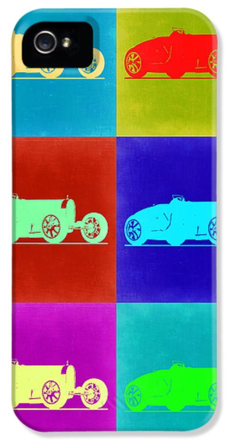 IPhone 5 Case featuring the painting Bugatti Type 35 R Pop Art 2 by Naxart Studio