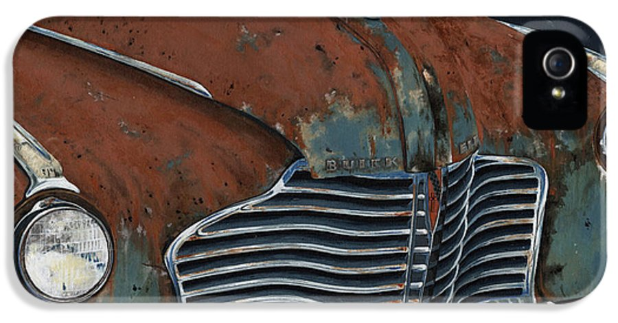 Vintage IPhone 5 Case featuring the painting Buick Electra by John Wyckoff