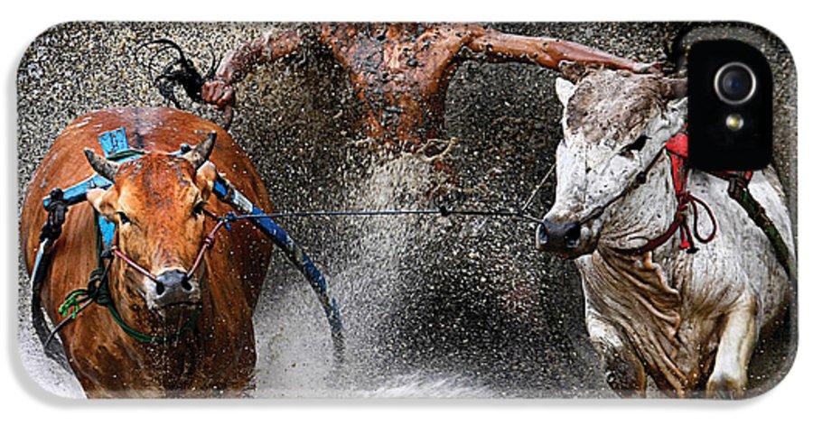 Bull-race IPhone 5 Case featuring the photograph Bull Race by Wei Seng Chen
