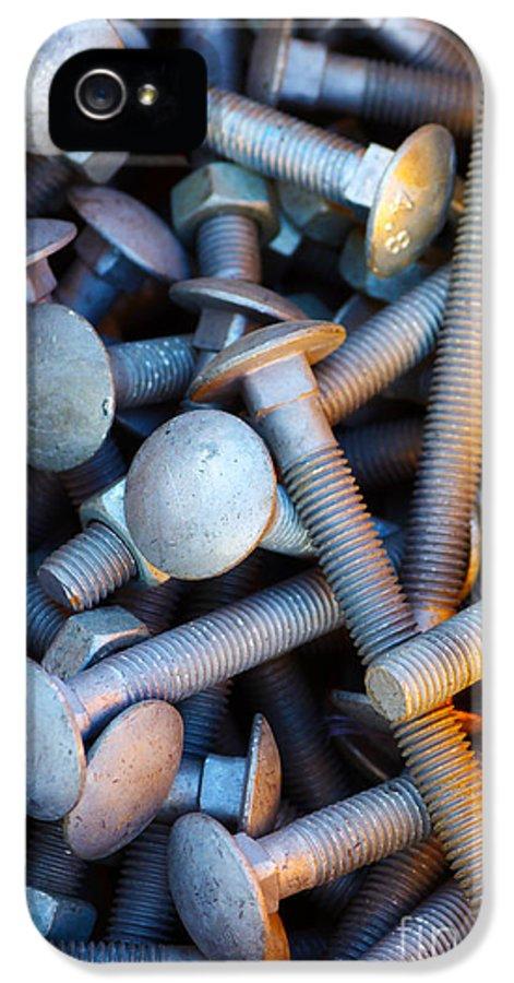 Aluminium IPhone 5 Case featuring the photograph Bunch Of Screws by Carlos Caetano