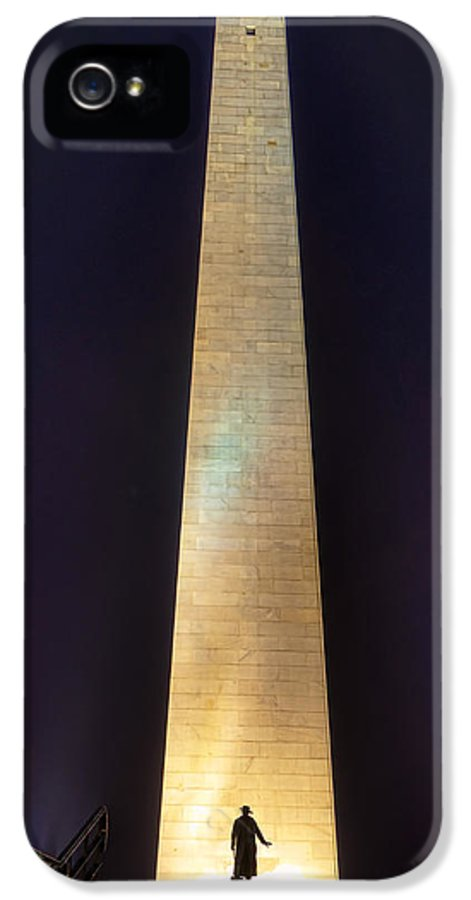 Boston Night Scenes IPhone 5 Case featuring the photograph Bunker Hill Monument by Joann Vitali