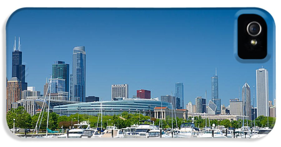 America IPhone 5 Case featuring the photograph Burnham Harbor And The Chicago Skyline by Kristopher Kettner