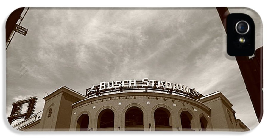 America IPhone 5 Case featuring the photograph Busch Stadium - St. Louis Cardinals 7 by Frank Romeo