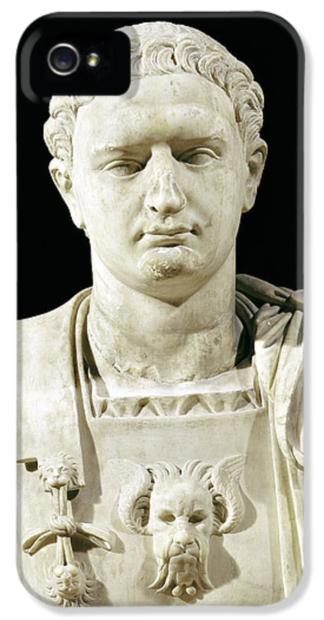 Flavius IPhone 5 Case featuring the sculpture Bust Of Emperor Domitian by Anonymous