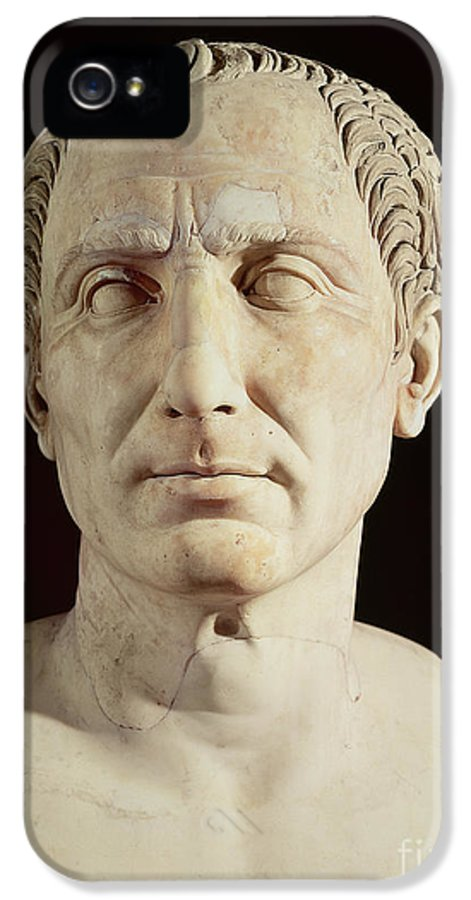 Portrait IPhone 5 Case featuring the sculpture Bust Of Julius Caesar by Anonymous