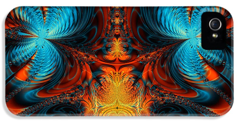 Abstract IPhone 5 Case featuring the digital art Butterfly Plasma by Ian Mitchell