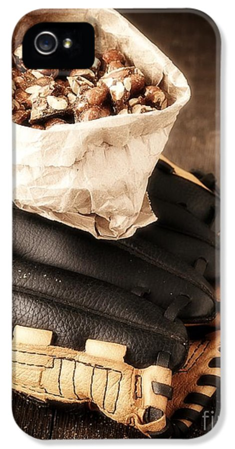 Baseball IPhone 5 Case featuring the photograph Buy Me Some Peanuts And Cracker Jack by Edward Fielding
