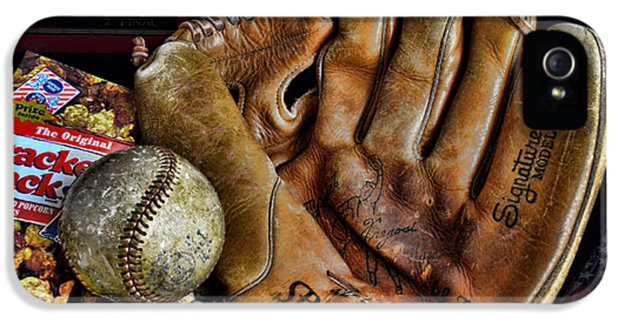 Baseball IPhone 5 Case featuring the photograph Buy Me Some Peanuts And Cracker Jacks by Ken Smith