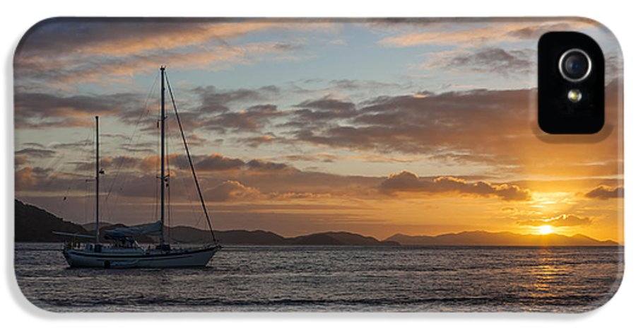 3scape IPhone 5 Case featuring the photograph Bvi Sunset by Adam Romanowicz