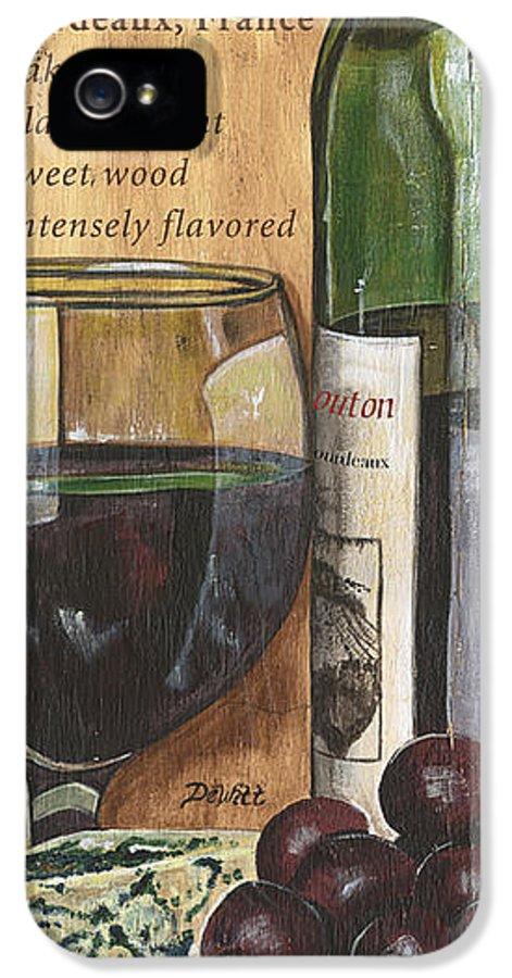 Cabernet IPhone 5 Case featuring the painting Cabernet Sauvignon by Debbie DeWitt