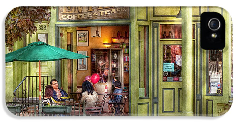 Hoboken IPhone 5 Case featuring the photograph Cafe - Hoboken Nj - Empire Coffee And Tea by Mike Savad