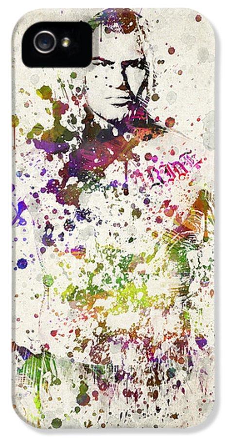 Cain Velasquez IPhone 5 Case featuring the digital art Cain Velasquez by Aged Pixel