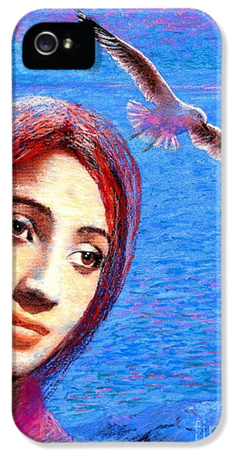 Mystical IPhone 5 / 5s Case featuring the painting Call Of The Deep by Jane Small