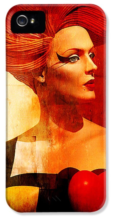 Girl IPhone 5 Case featuring the mixed media Calypso Mama by Chuck Staley