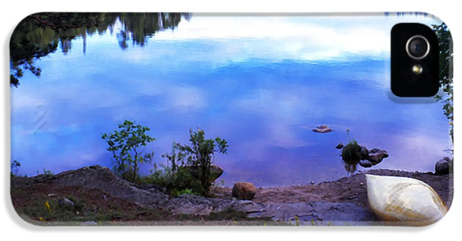 Canoe IPhone 5 Case featuring the photograph Campsite Serenity by Thomas R Fletcher