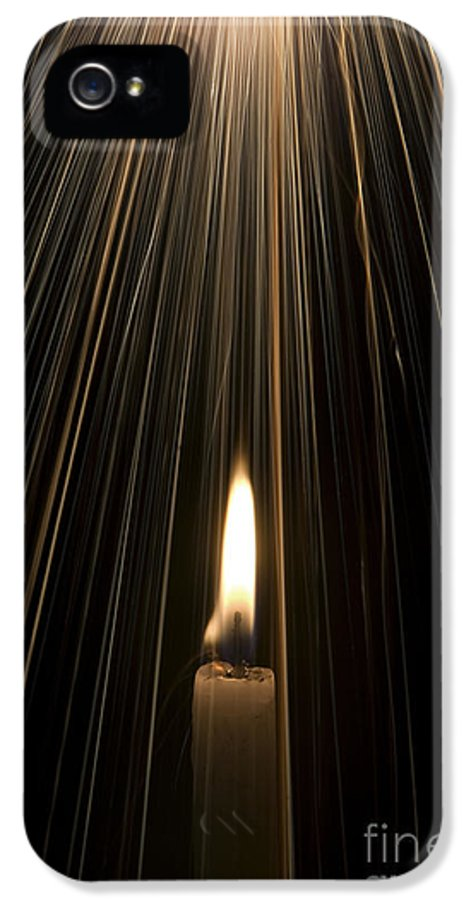 Candle IPhone 5 Case featuring the photograph Candle Light by Tim Gainey