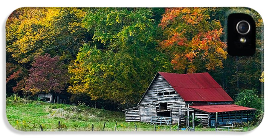 Appalachia IPhone 5 Case featuring the photograph Candy Mountain by Debra and Dave Vanderlaan
