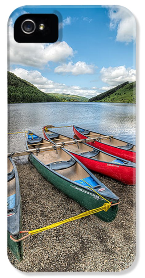 Betws Y Coed IPhone 5 Case featuring the photograph Canoe Break by Adrian Evans