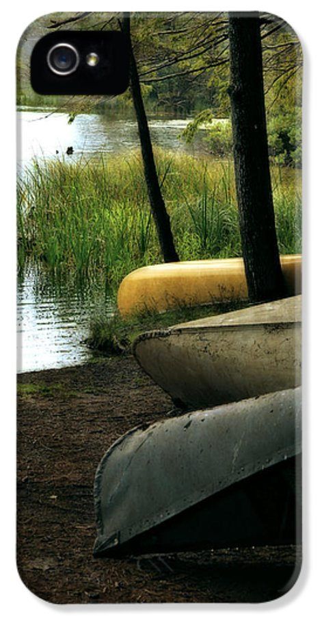 Canoe IPhone 5 Case featuring the photograph Canoe Trio by Michelle Calkins