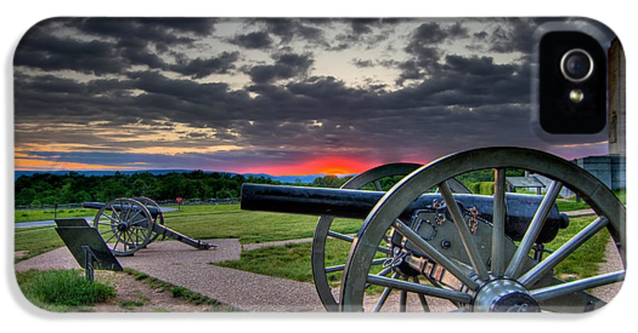Abraham IPhone 5 Case featuring the photograph Canon Over Gettysburg by Andres Leon
