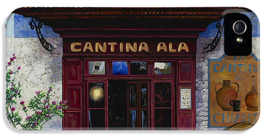 Cantina IPhone 5 Case featuring the painting cantina Ala by Guido Borelli
