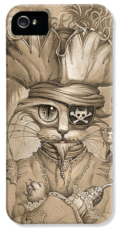 Jeff Haynie IPhone 5 Case featuring the painting Captain Claw by Jeff Haynie