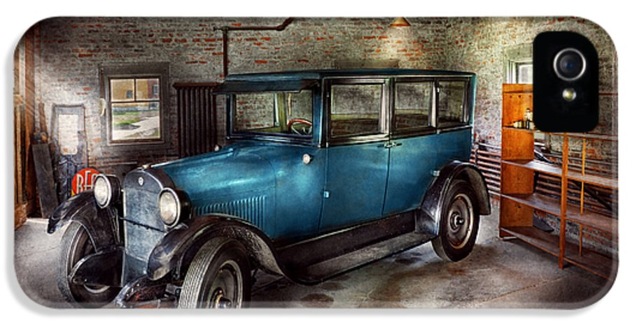 Savad IPhone 5 Case featuring the photograph Car - Granpa's Garage by Mike Savad