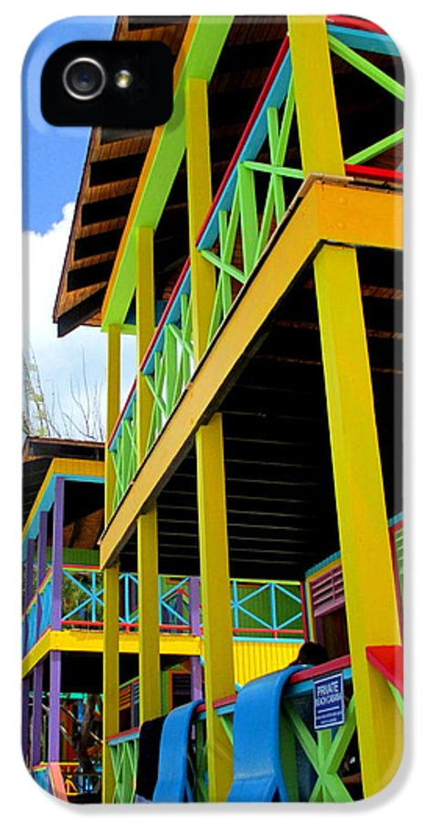 Caribbean Corner IPhone 5 / 5s Case featuring the photograph Caribbean Porches by Randall Weidner