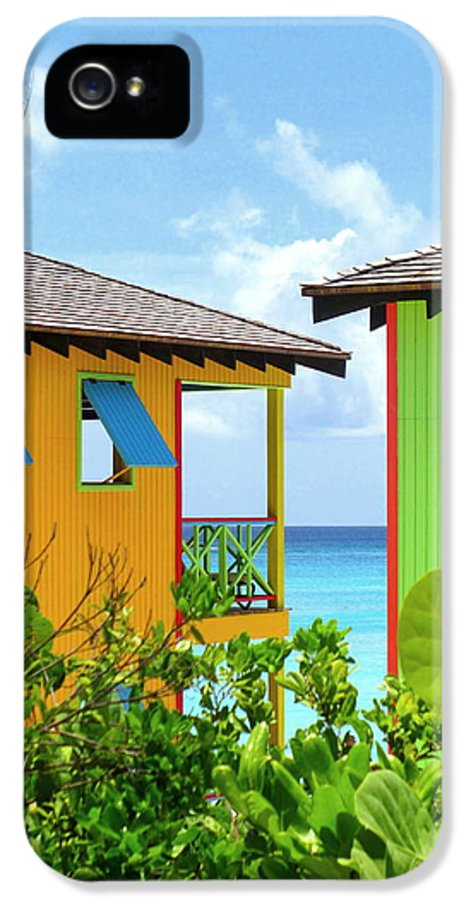 Caribbean Corner IPhone 5 Case featuring the photograph Caribbean Village by Randall Weidner