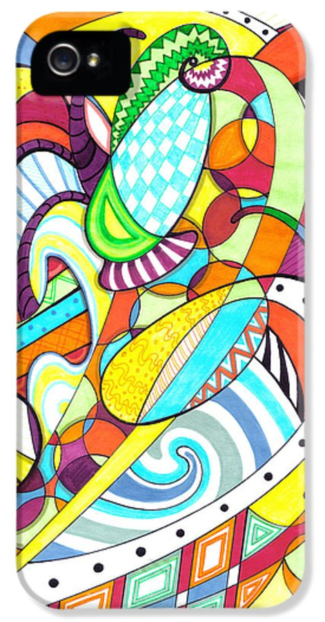 Carnival IPhone 5 Case featuring the drawing Carnival by Shawna Rowe