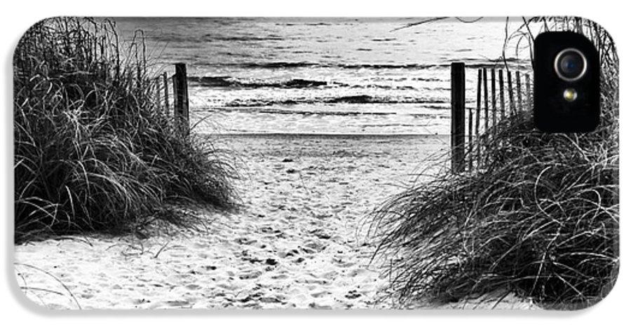 Carolina Beach Entry IPhone 5 Case featuring the photograph Carolina Beach Entry by John Rizzuto