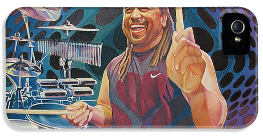 Carter Beauford IPhone 5 Case featuring the drawing Carter Beauford Pop-op Series by Joshua Morton