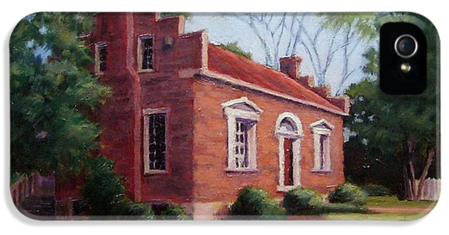 Carter House IPhone 5 Case featuring the painting Carter House In Franklin Tennessee by Janet King
