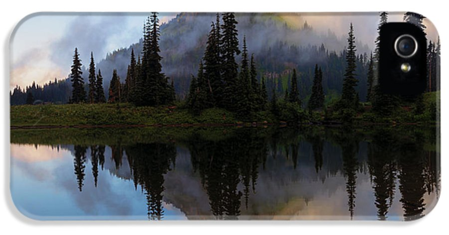 Yakima Peak IPhone 5 Case featuring the photograph Cascade Mirror by Mike Dawson