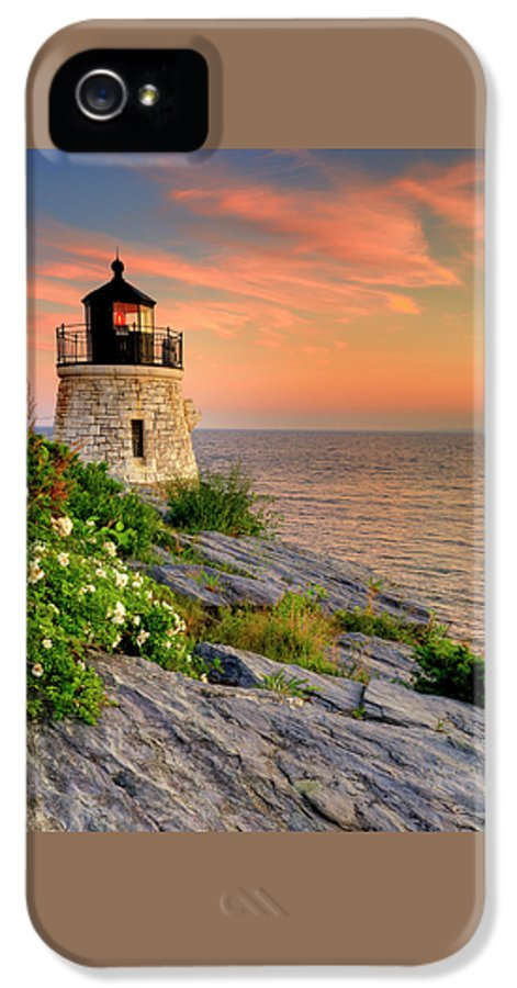 Lighthouse IPhone 5 Case featuring the photograph Castle Hill Lighthouse-rhode Island by Thomas Schoeller
