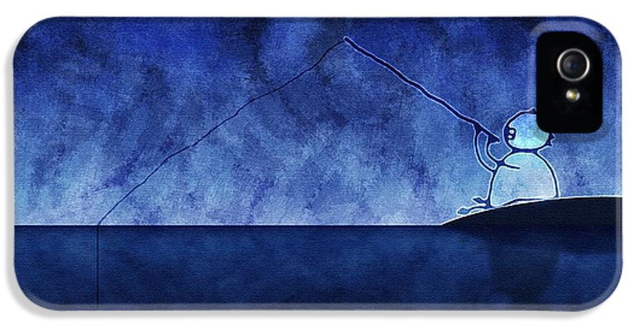 Fishing IPhone 5 Case featuring the photograph Catching The Moon Under Water by Gianfranco Weiss