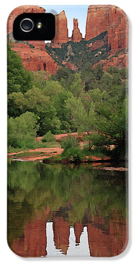 Cathedral Rock IPhone 5 Case featuring the painting Cathedral Rock 1 by Ellen Henneke