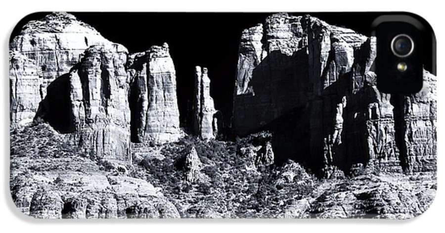 Cathedral Rock Shadows IPhone 5 Case featuring the photograph Cathedral Rock Shadows by John Rizzuto
