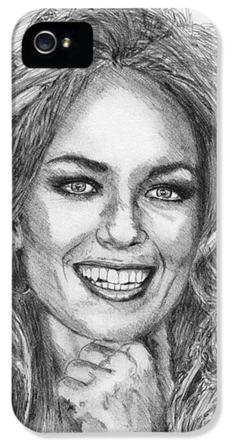Mccombie IPhone 5 Case featuring the drawing Catherine Bach In 1979 by J McCombie
