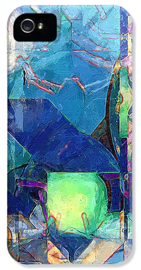 Abstract IPhone 5 Case featuring the painting Celestial Sea by RC deWinter