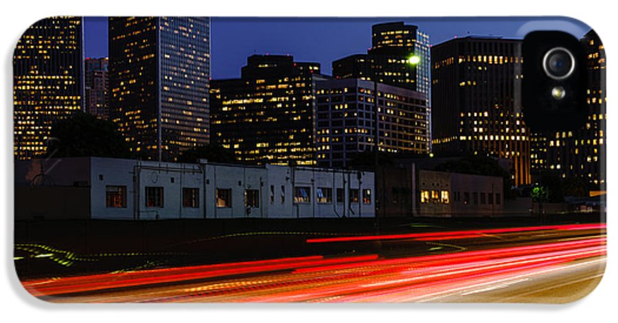 America IPhone 5 Case featuring the photograph Century City Skyline At Night by Paul Velgos
