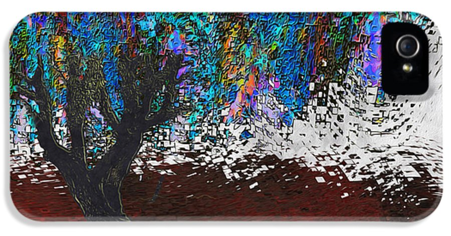 Digital IPhone 5 Case featuring the painting Changing Tree by Jack Zulli