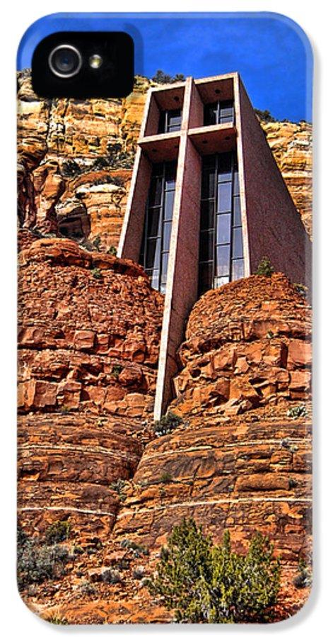 Sedona Arizona IPhone 5 Case featuring the photograph Chapel Of The Holy Cross Sedona Arizona by Jon Berghoff
